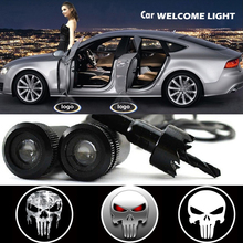 2 X Car Door Light Laser Welcome Ghost Shadow Projector Punisher Logo Light for Mitsubishi Outlander Bmw E39 E46 Audi A4 A5 A6
