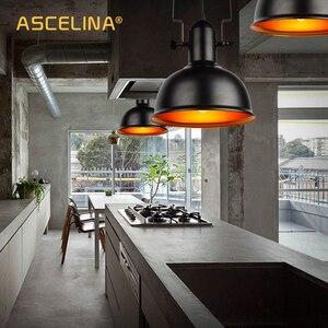 Image 3 - בציר תליון אור תעשייתי תליון מנורת רטרו ברזל תליית מנורת E27 cocina accesorio לבית וחנות דקורטיבי תאורה