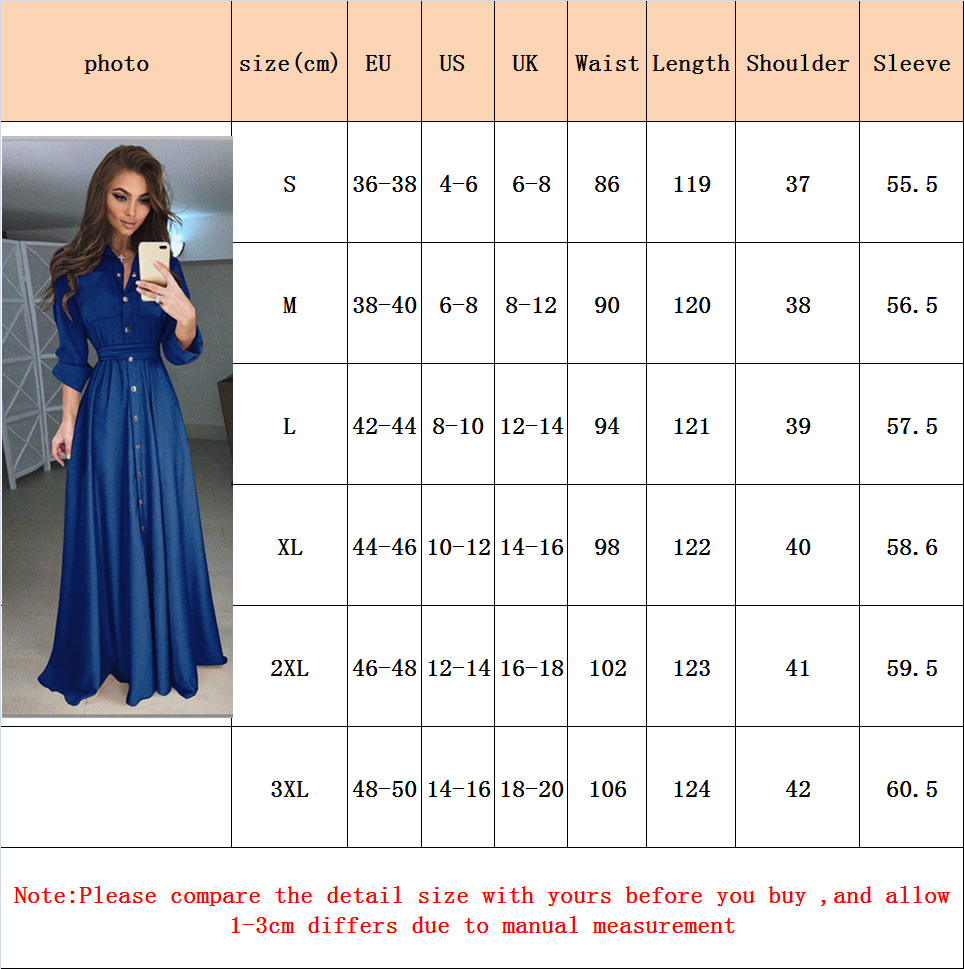 plus size new long dress women long sleeve boho button down summer maxi  dress clothing casual loose elegant dresses 2019