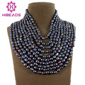 Increíble! Fabulous 10 strands Collar de Moda de Lujo de Estilo Barroco de Agua Dulce Perla Barroca Joyería de Perlas De Alta Calidad FP525