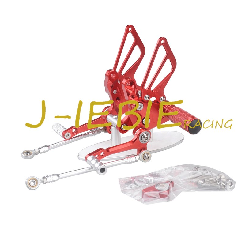 CNC Racing Rearset Adjustable Rear Sets Foot pegs Fit For Ducati 848 1098 1198 R/S R S RED cnc racing rearset adjustable rear sets foot pegs fit for ducati streetfighter 848 1098