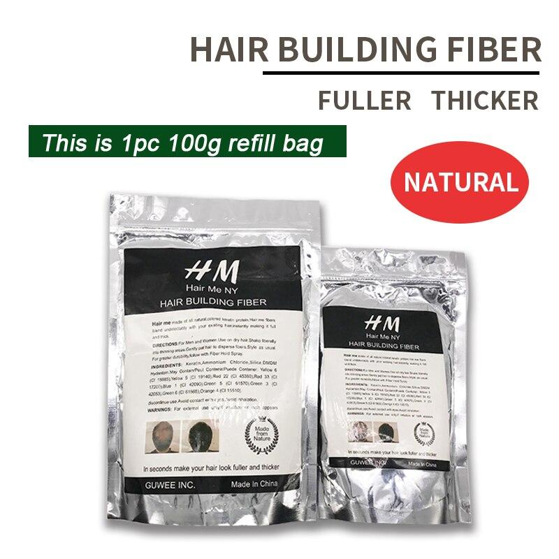 25g + 50g + 100g fibra dei capelli refill bag riciclare migliore qualità Della Cheratina dei capelli misura perdita di costruzione fiber per la crescita ri modificare i prodotti