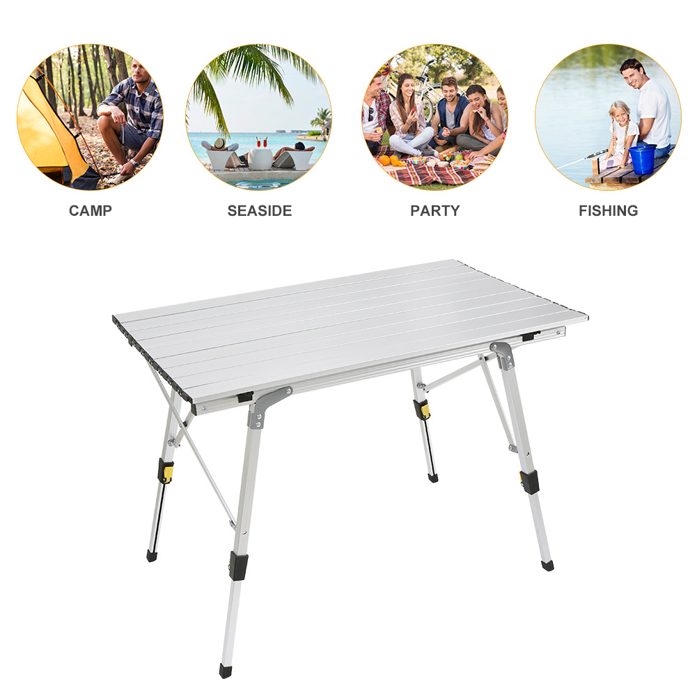 Folding Table Ultra-light Aluminium Alloy Foldable Desk Portable Outdoor Durable Picnic Tables For Barbecue Camping FP8 aluminum alloy portable outdoor tables garden folding desk with waterproof oxford cloth