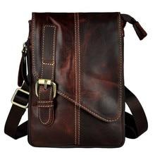 2017High Quality Genuine Real Leather men vintage Brown Small Hook Belt Messenger Bag Waist Pack Drop Bag 7 iphone case