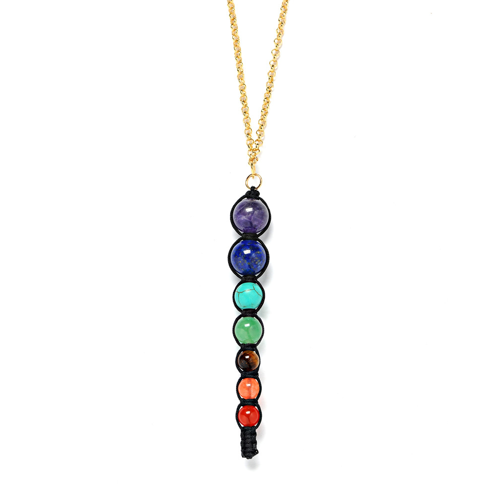 jewelry yoga women spiritual reiki chakra multicolor balance lava multicoloured necklace pendantpic pendant pendants beads healing necklaces