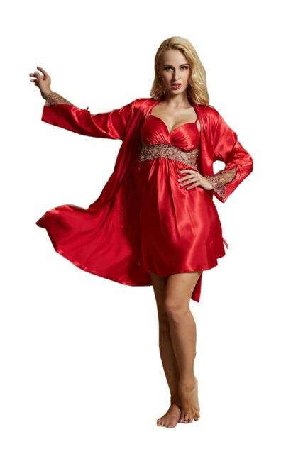 2016 Mujeres ropa de Noche de Primavera 2 unids Conjuntos Traje y Falda Vestido de Noche 2 Unidades de Conjuntos de Sueño Trajes de Señora Pijamas Nueva Camisa de Dormir AU80010