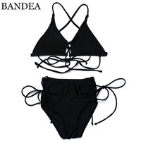 BANDEA Bikini Sexy Summer 2017 Strappy Women Swimwear Swimsuit Lace Up Brazilian Style Bikinis High Waist