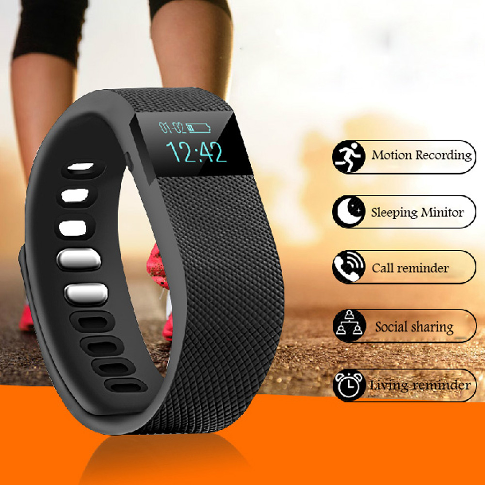 TGETH TW64 Bluetooth Smart Watch SmartBand Bracelet Wearable Life Waterproof Pedometer For IOS Android Fitness Tracker