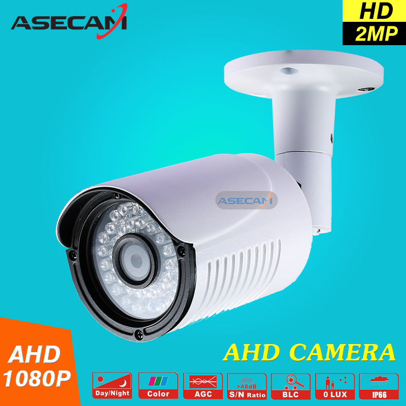 2MP 1080P AHD Surveillance Camera AHDH System Security Cameras Outdoor Waterproof Bullet 36*leds infrared With Bracket