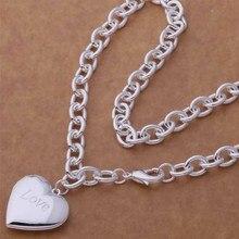 AN750 Модные оптовая серебряное Ожерелье, 925 серебряные ювелирные изделия, Плоским сердце ожерелье/cdjakuqa hbfapsma