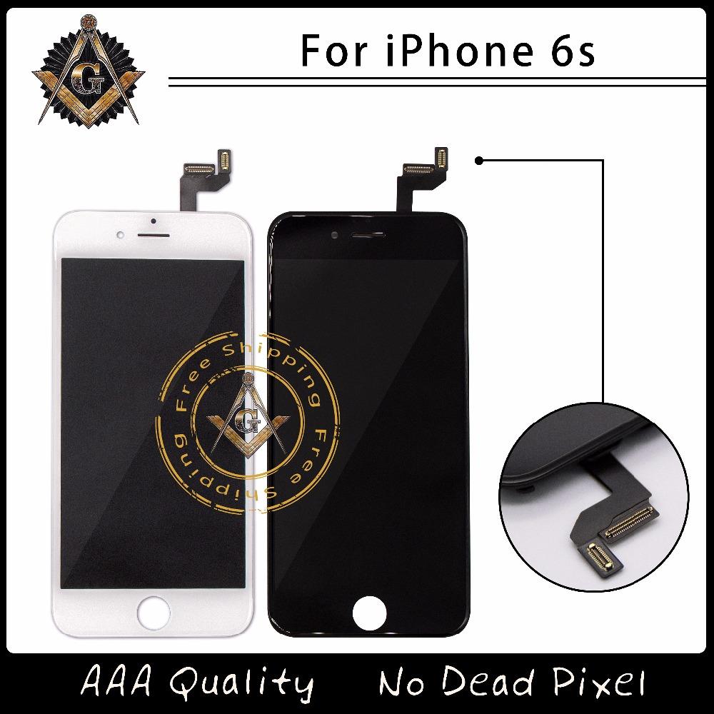 Prix pour 4.7 Grade AAA Aucun Pixel Mort Pour iphone 6s LCD Affichage avec 3D Écran Tactile Digitizer Assemblée Noir Ou Blanc Livraison DHL gratuite