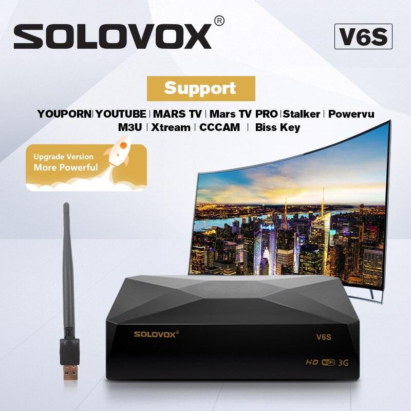 "SOLOVOX S V6S לווין טלוויזיה מקלט קולנוע ביתי HD תמיכה M3U CCCAM טלוויזיה Xtream עבור האיחוד האירופי Fr USK ארה""ב ערבי לווין מקלט"