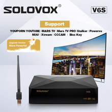 SOLOVOX S V6S Satellite TV Receiver Home Theater HD Support