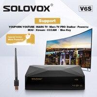 SOLOVOX V6S Satellite TV Receiver DVB S2 IPTV Support M3U CCCAM Xtream Stalker For Eu Fr UK USA European iptv plus CCCAM