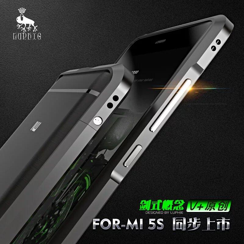 For XIAOmi Mi5s Rapier Serie Luxury Aluminum Metal Bumper For Xiaomi mi5s Case Prismatic Shape Frame
