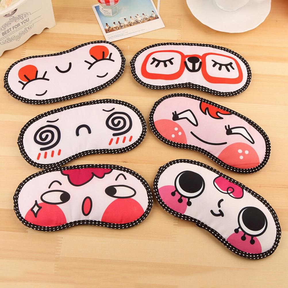 Lovely Cartoon Sleeping Eye Mask Nap Eye Care Shade Blindfold Sleep Mask Eyes Cover Sleeping Travel Rest Relaxing Aid Tools 1pcs