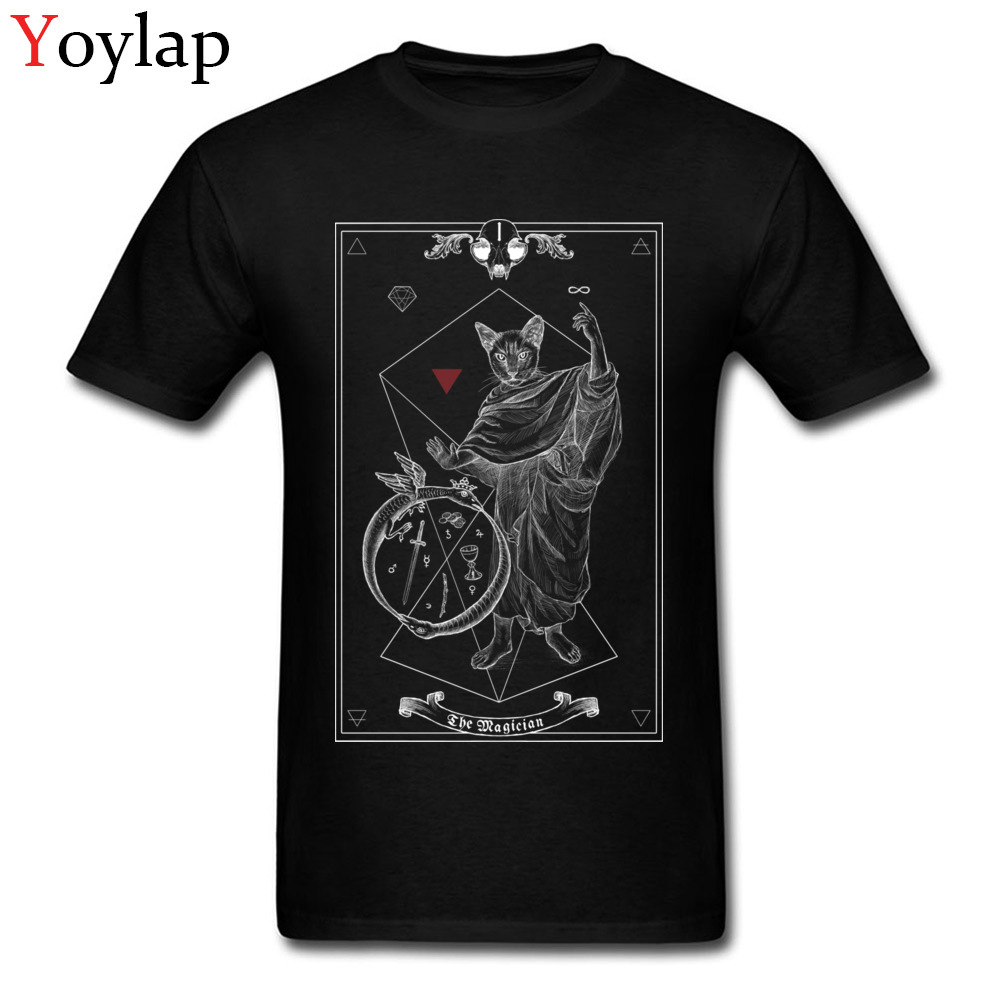 Tarot The Magician I inverted Casual Tops T Shirt for Boys Cotton Fabric Summer O-Neck T Shirt Group Clothing Shirt Classic
