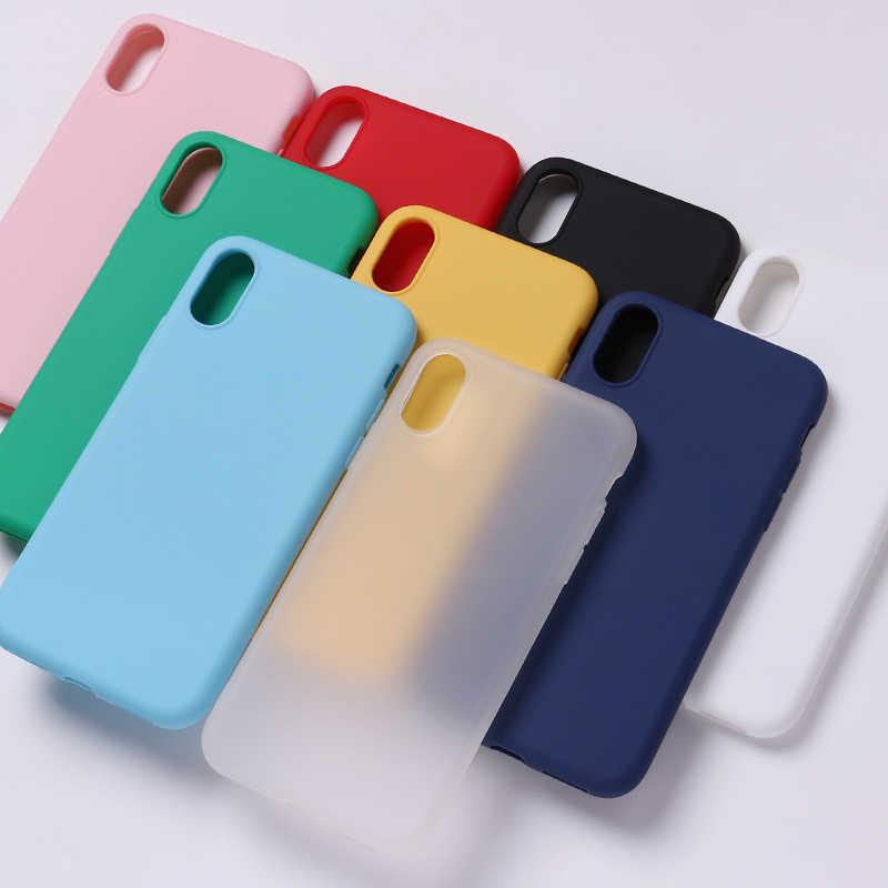 シリコン固体キャンディーマットシンプルなソフト電話薄型 Fundas キャパ Coque Iphone 11 7 プラス 7 6S 5S 8 8 プラス X XS 最大ケース