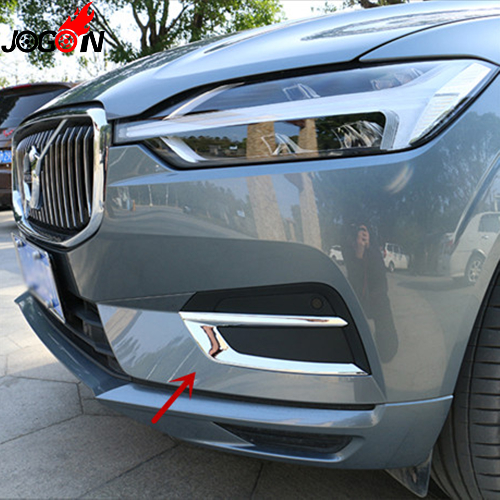 For Volvo XC60 2018 2019 Car Styling Front Fog Lamp Trim