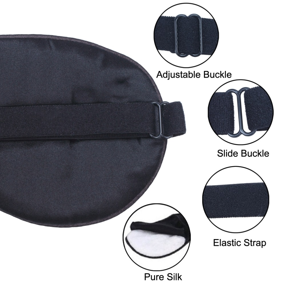 Запълнена чиста коприна EyeShade Спящата - Здравеопазване - Снимка 2