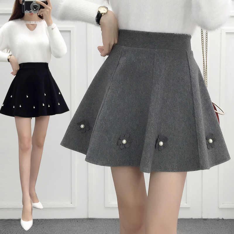 8f3d670916e 2018 autumn winter korean style pleated skirt plus size streetwear women  skirt high waist elegant office