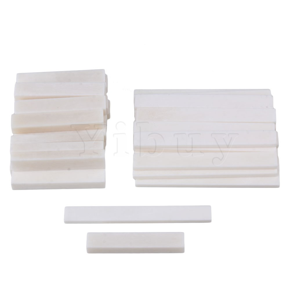 Yibuy 50 x Acoustic Guitar Classical Guitar Blank Bone Nut and Bridge Saddle White цены онлайн