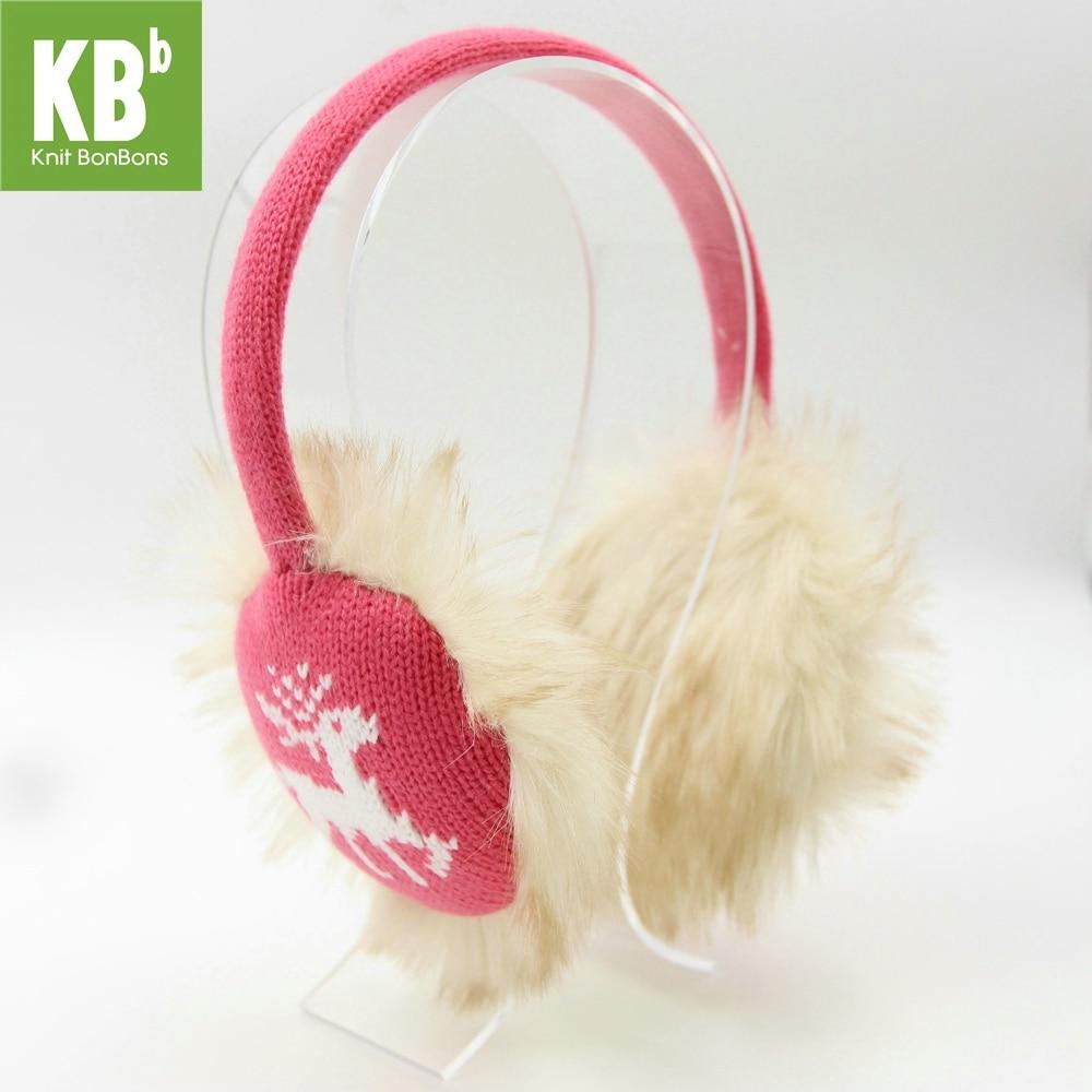 2017 KBB Spring    New Styles Children Women Men Knit Raindeer Warm Cute Lady Adult Fashion Faux Fur Winter Earmuffs Earlap