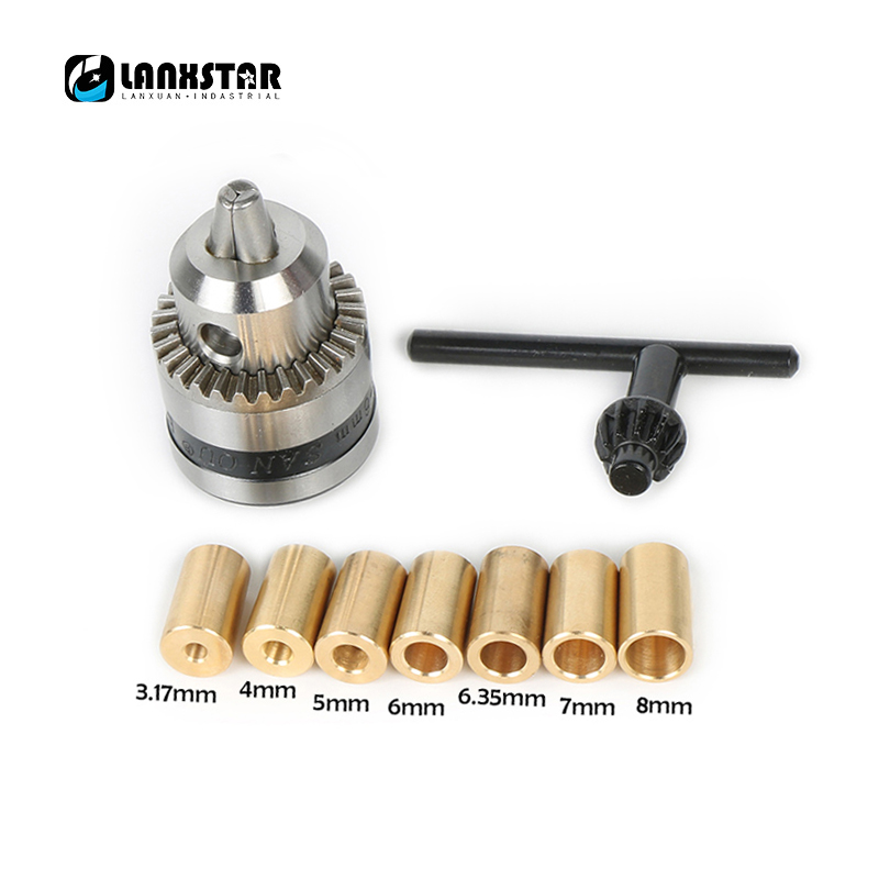 High Quality B10 Chuck Fit for Motor Shaft Diameter 3.2mm/4mm/5mm/6mm/6.35mm/7mm/8mm B10 0.6-6mm Mini Drill Chuck Copper Sleeve 6 5ft diameter inflatable beach ball helium balloon for advertisement
