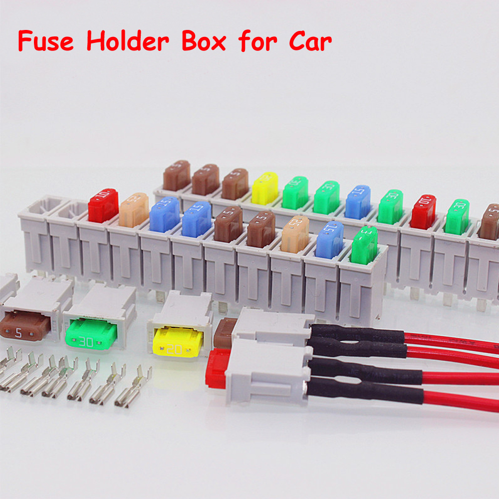 3 Sets 12 Way Multi Channel Small Size ATO Blade Fuse Box Block Holder For Car Truck Auto With Fuses Terminals 40a blade contact fuse link base holder nt00 500v 120ka 660v 50ka