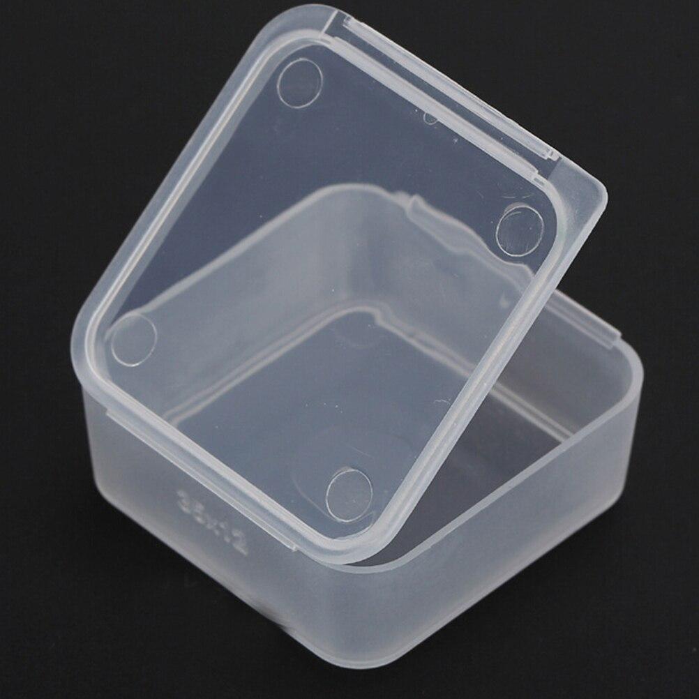Wholesale 5pcs Lot Small Square Plastic Clear Transparent