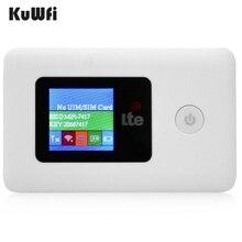 KuWFi 4G موزع إنترنت واي فاي مقفلة 150 Mbps 3G/4G LTE في الهواء الطلق السفر راوتر لاسلكي مع SIIM بطاقة TF فتحة للبطاقات الجيب يصل إلى 10 مستخدمين