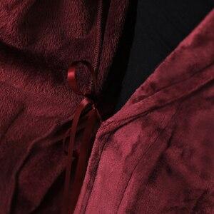 Image 5 - Peignoir à capuche thermique pour hommes et femmes, peignoir extra Long, épais et chaud, Kimono dhiver, pour demoiselles dhonneur
