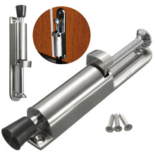 Awesome Luxury Stainless Steel Telescopic Door Stopper Silver Spring Loaded Step On  Door Holder Door Stops