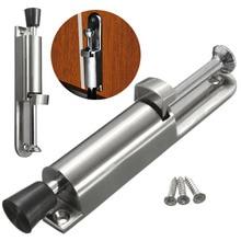 Luxury Stainless Steel Telescopic Door Stopper Silver Spring Loaded Step On  Door Holder Door Stops Mayitr