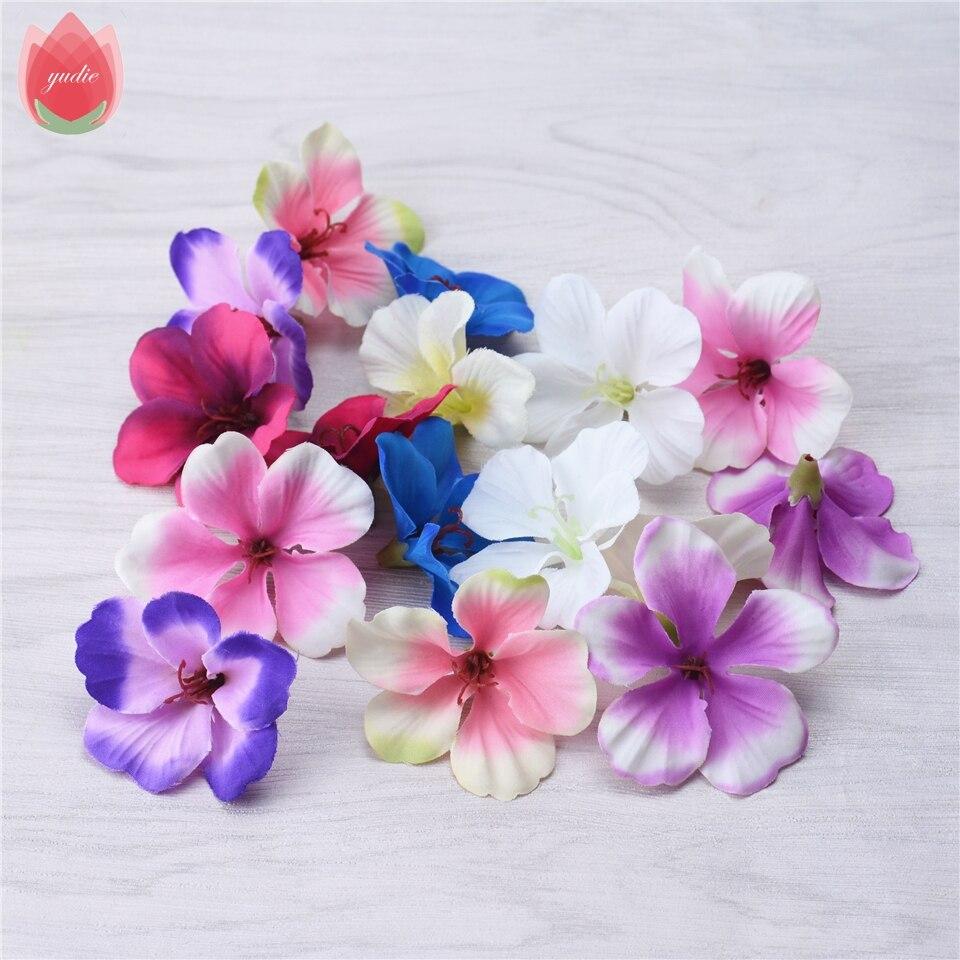 200pcs Spring Silk Gradient Orchid Artificial Flower For Wedding Home Decoration Orchis Mariage Flores Cymbidium Flowers Plants