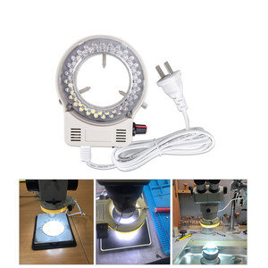 Image 5 - Foxanon LED مصباح مصمم على شكل حلقة المنور مصباح AC 110V 220V قابل للتعديل المجهر ضوء عالية الجودة DC 12V ستيريو Microscopio أضواء