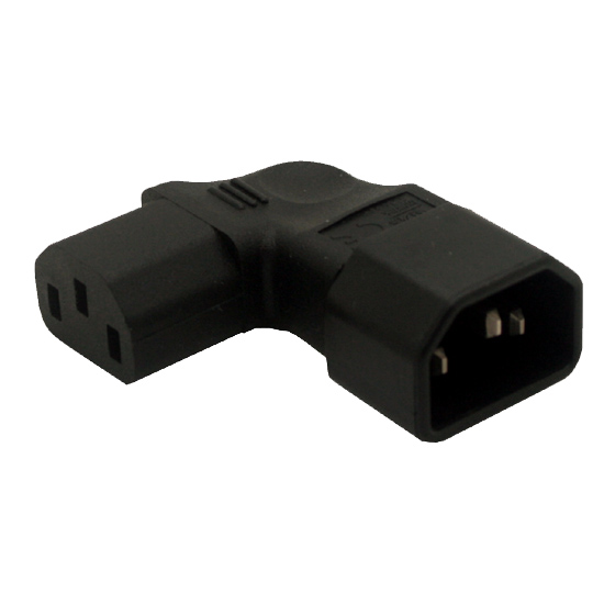 UPS IEC 320 C14 to c13 Power Adapter Conversion plug Adapter plug left Male to female free shipping iec 320 c14 to saa australia 3 pin female power adapter for pdu ups ac plug converter wpt604