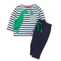 Menoea Çocuk Kız Elbise Takım Elbise Avrupa ve Amerikan Tarzı Çocuklar Hayvanlar Desen Elbise + Pantolon Sonbahar Boys Giyim Setleri
