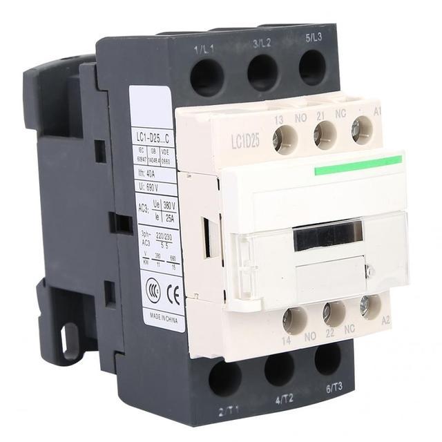 AC Contactor 3 Poles Coil Contactor 220V 25A/32A/38A 50/60Hz Coil Motor Starter Relay