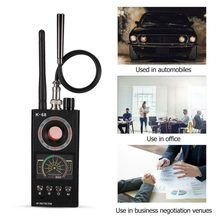 K68 multi-função anti-espião detector câmera gsm áudio bug finder gps sinal lente rf rastreador detectar produtos sem fio gama completa