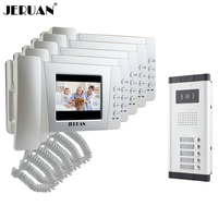 JEX Apartment 4.3 inch LCD color Video Door Phone Intercom System 5 Handheld Monitor 700TVL IR COMS Camera for 5 Call Button