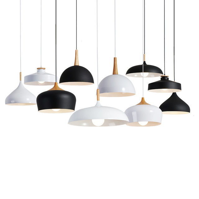 EuIgnis Loft Legno Wood Pendant Lights Lamparas Colgantes Lights For ...