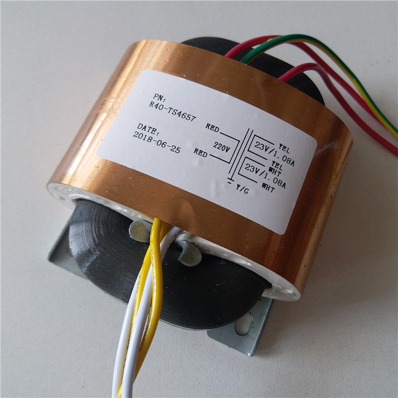 23V 1.08A 23V 1.08A R Core Transformer 50VA R40 custom transformer 220V copper shield output for Pre-decoder Power amplifier стоимость