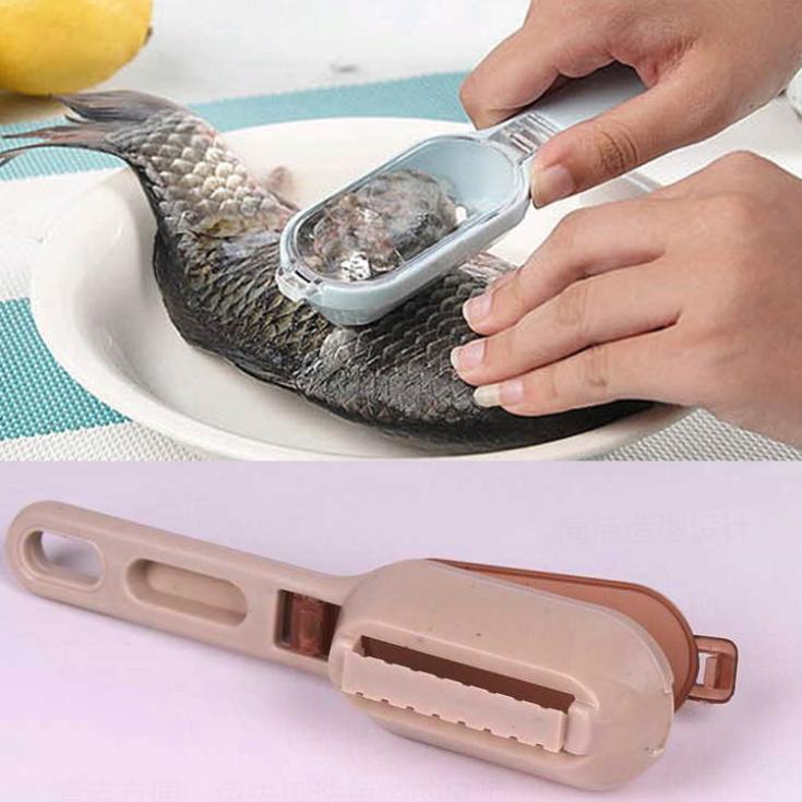 Рыбьей кожи выскабливание рыбья Весы Кисточки Тёрки быстро удалить Кухня инструмент гаджеты 17.5*3*4 см