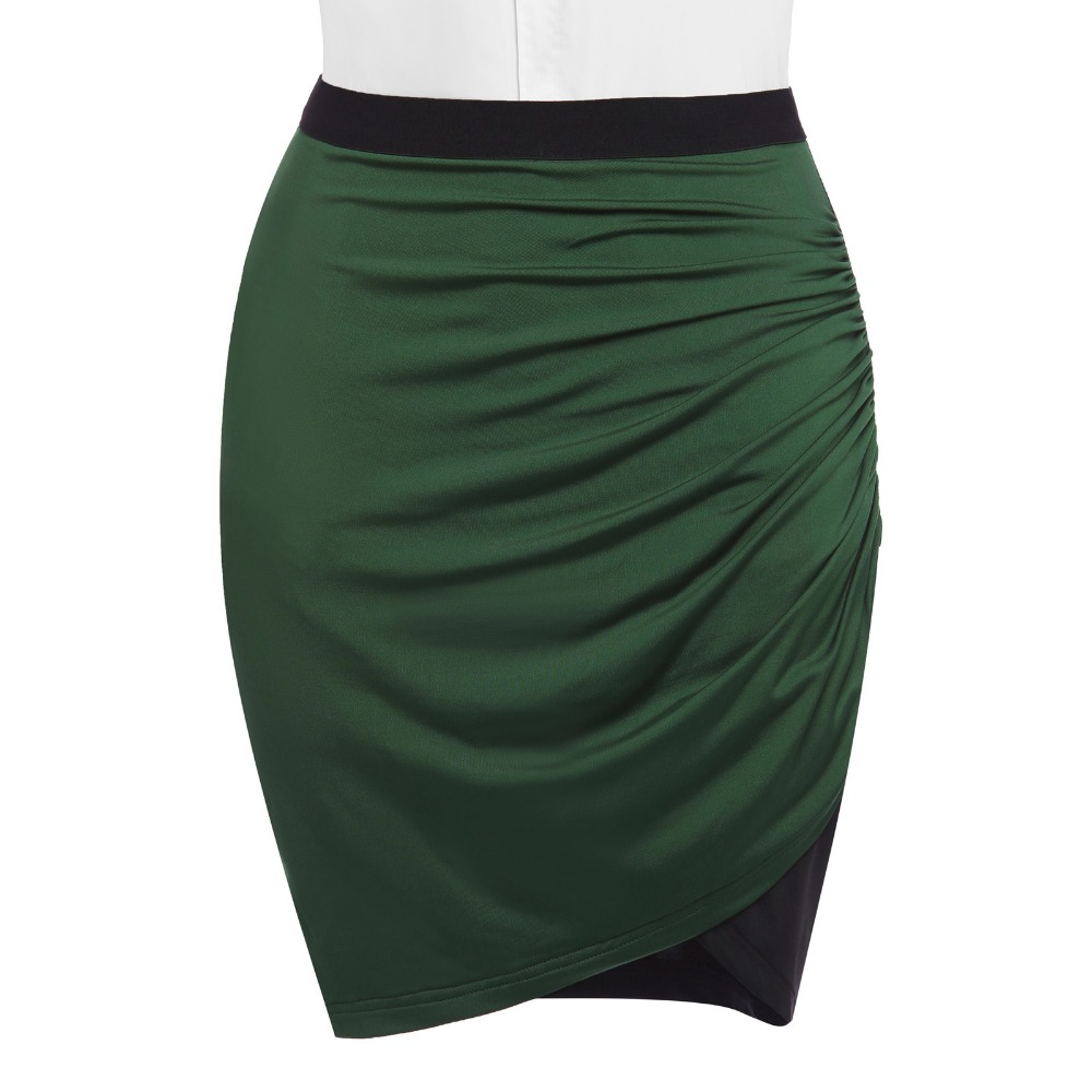 f2d9d9443d Sexy Slim Mini Pencil Skirts Womens Pleated Skirt High Waist Cheap Bandage  Skirt Fashion 2017 Summer Spring Office Party Skirts-in Skirts from Women's  ...