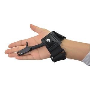 Image 5 - 1pc noir étrier libération chasse tir arc flèche accessoires poignet libération sangle utilisé pour arc composé