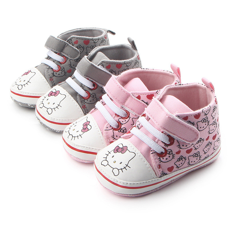 Baby Shoes First Walkers J Ghee New Summer Shoes For Children Cartoon Hello Kitty Lace Toddlers Soft Baby Girl Shoes Childrens Shoes Led Light Size15-19