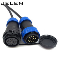 SD28TP ZM 16 Pin Waterproof Connector IP67 Industrial Machinery Automation Power Cable Connector 16 Pin Plug