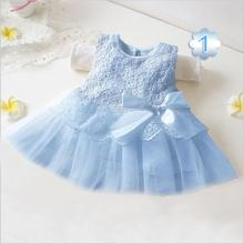 Retail! New 2019 white color branded baby girl dress full of