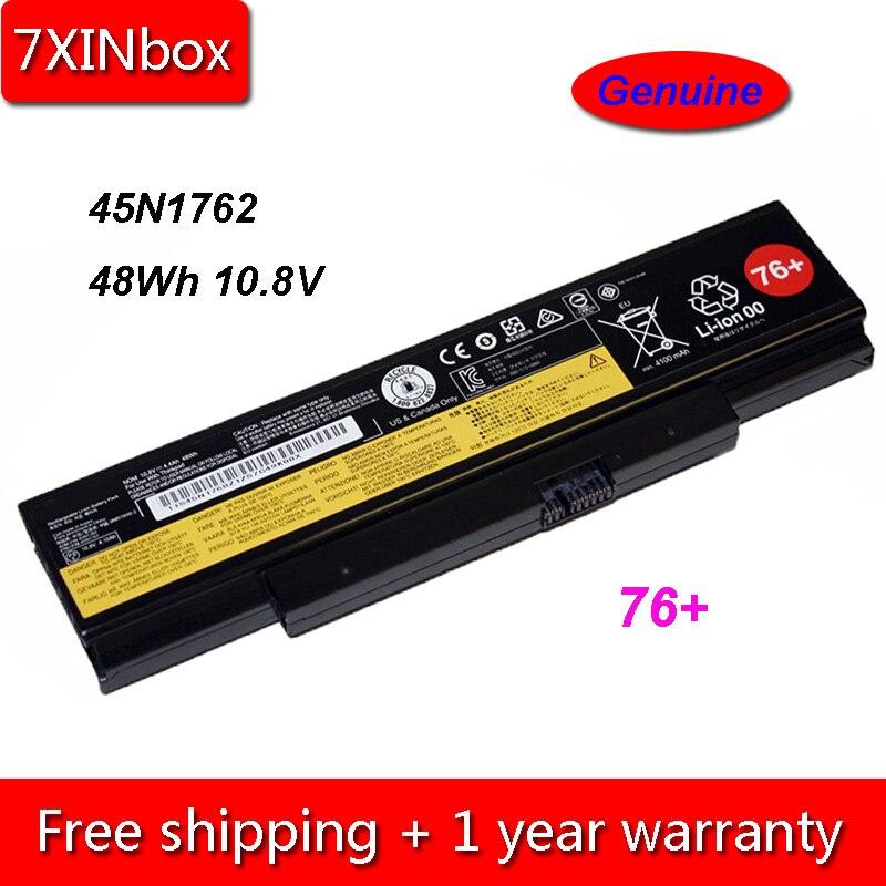 7 XINbox 48Wh 10.8 V Genu 45N1762 45N1758 Bateria Do Portátil Para Lenovo ThinkPad E550 E550C E555 45N1759 45N1760 45N1761 45N1763 76 +